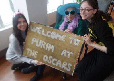All dressed up and ready for our Purim party!