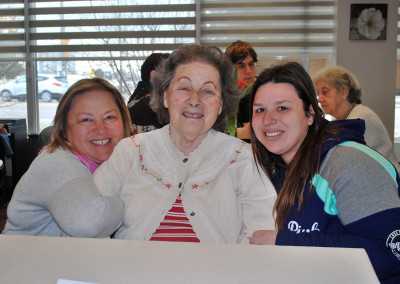 One of our residents and her family at our Family & Friends Brunch.